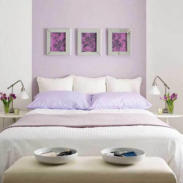 Cor lilás na decoração de quarto
