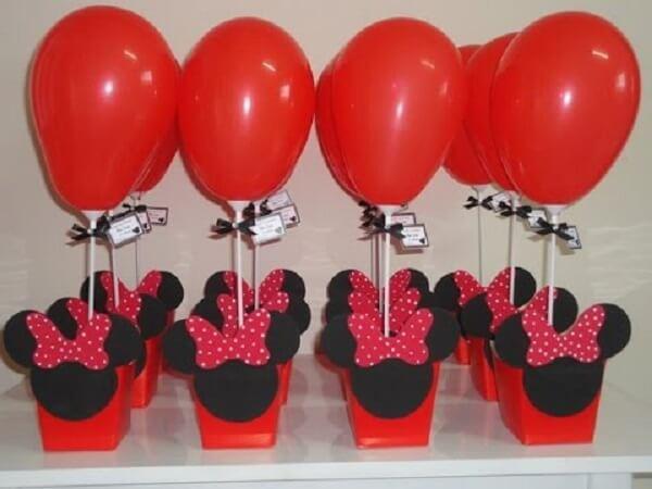 Decoração simples para festa da Minnie