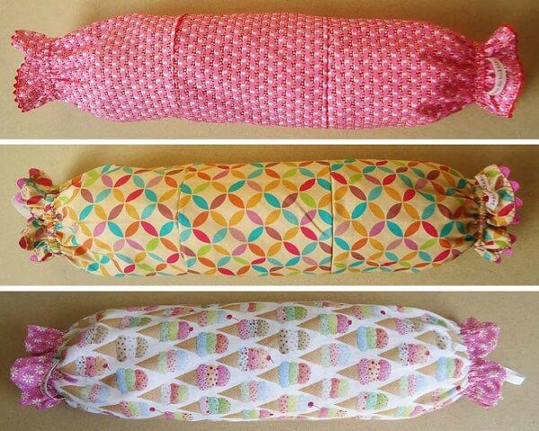 Estampas super coloridas para puxa saco de tecido
