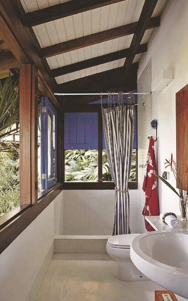 Forro de madeira para banheiro