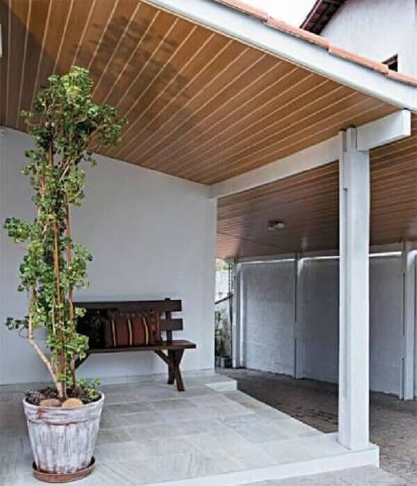 Forro de madeira pvc na varanda