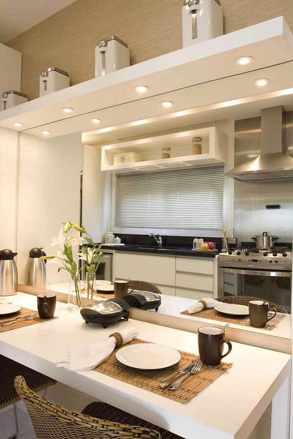 Modelos de cortina em cozinha
