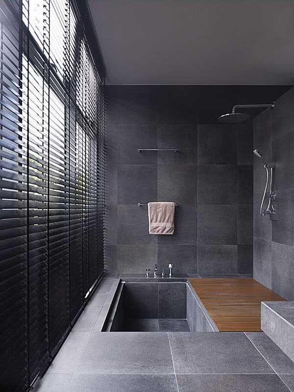 Modelos de cortina para banheiro