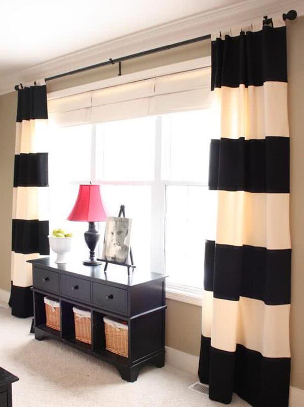 Modelos de cortinas de sarja