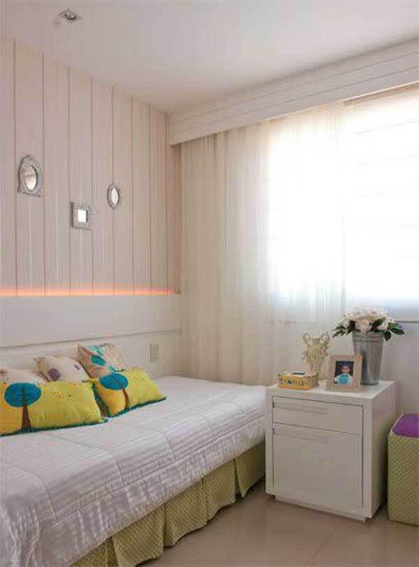 Modelos de cortinas do quarto solteiro