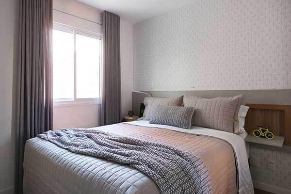 Modelos de cortinas em quarto de casal