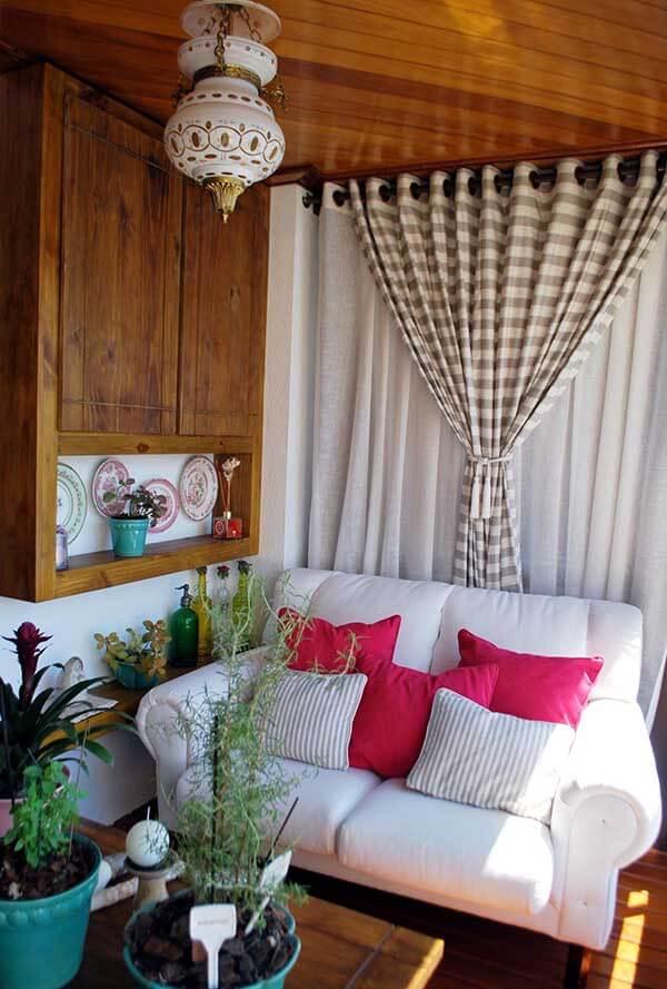 Modelos de cortinas em sala pequena e simples