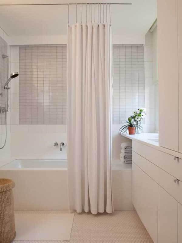 Modelos de cortinas na cor branca