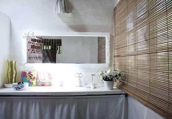 Modelos de cortinas para banheiro de bambu