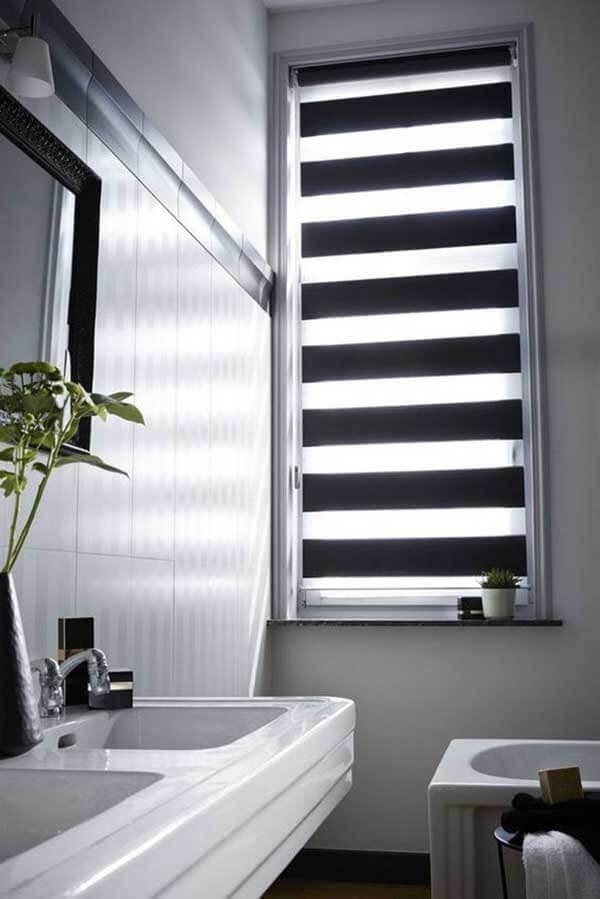 Modelos de cortinas para banheiro double vision