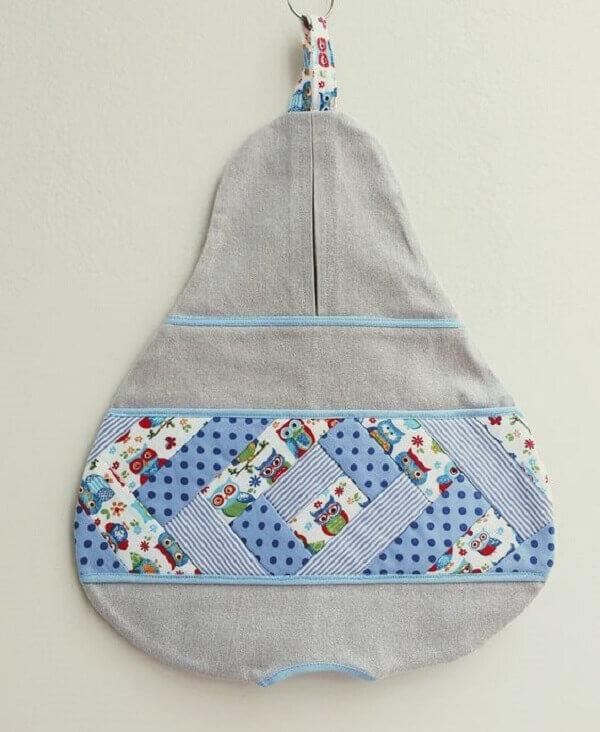 Puxa saco diferente de tecido em formato de pêra