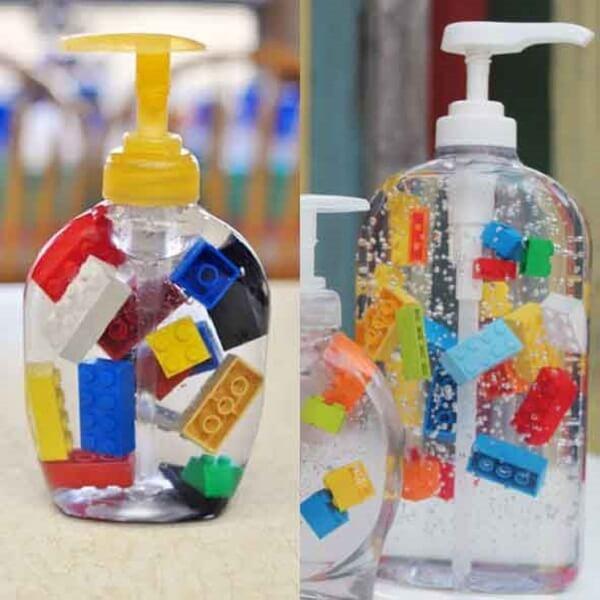 Saboneteira super criativa utilizada como enfeite para banheiro artesanato