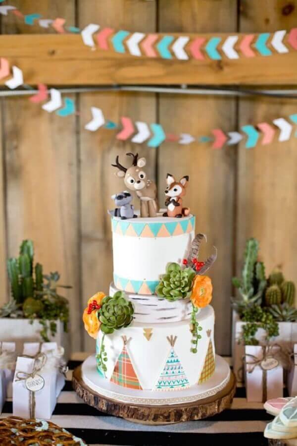 bolo de festa de aniversário com tema raposinha  Foto Air Freshener