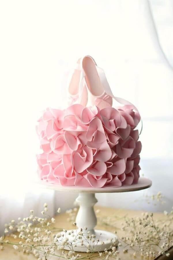 bolo decorado para festa bailarina Foto Pinterest