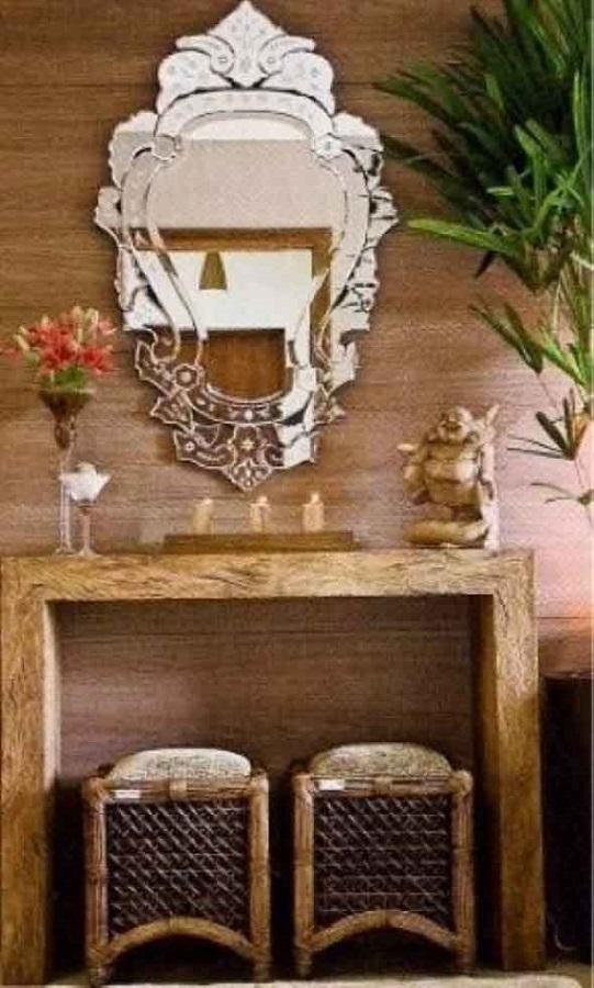 decoração com espelho moldura provençal espelhada Foto Decoração e Arte