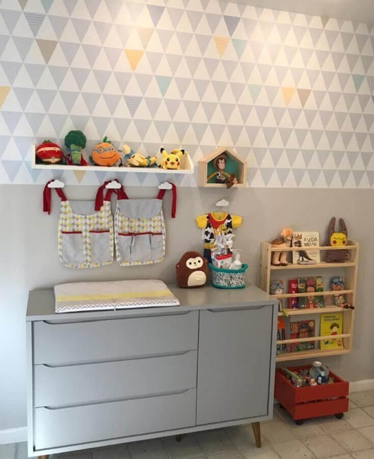 decoração de quarto de bebê com modelos diferentes de prateleira Foto Blog da Giovanna