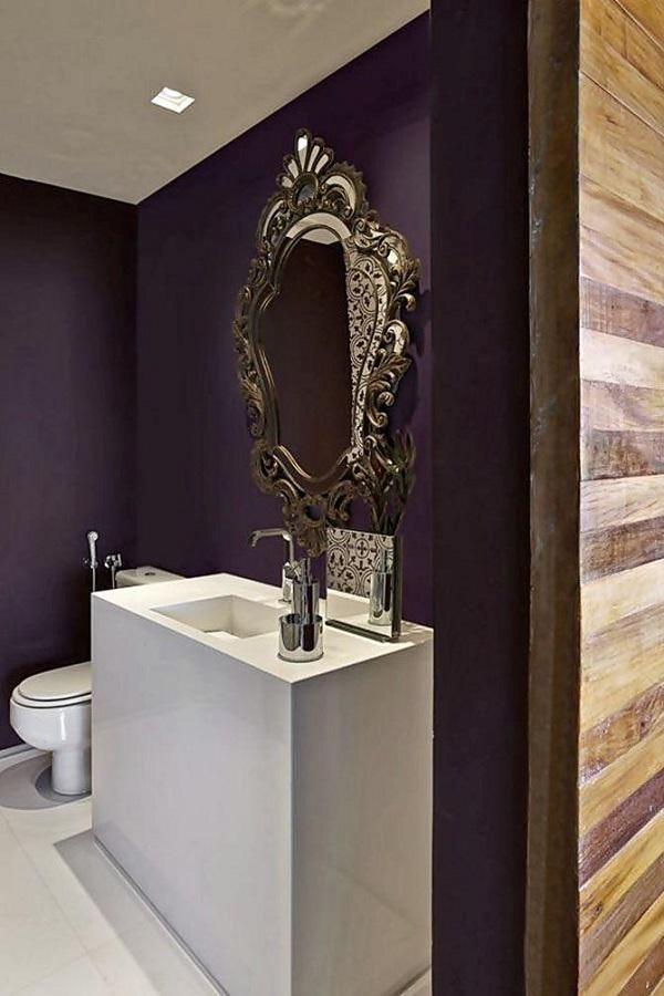 decoração moderna para banheiro com espelho provençal Foto Foto Architizer