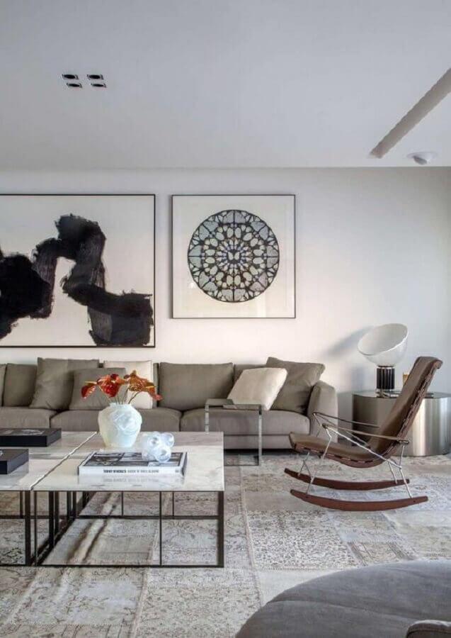 decoração moderna para sala com cadeira de balanço Foto Gisele Taranto