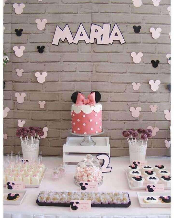 decoração para festa de aniversário infantil da Minnie Foto Pinosy