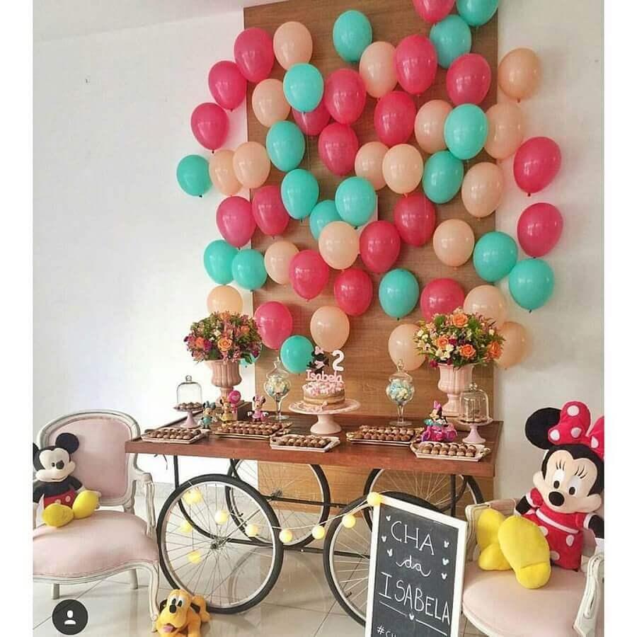 decoração simples para festa de aniversário do mickey e Minnie Foto Decoração Simples