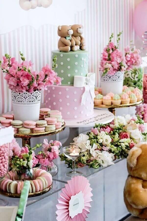 decoração super delicada para festa de aniversário com ursinhos Foto Air Freshener