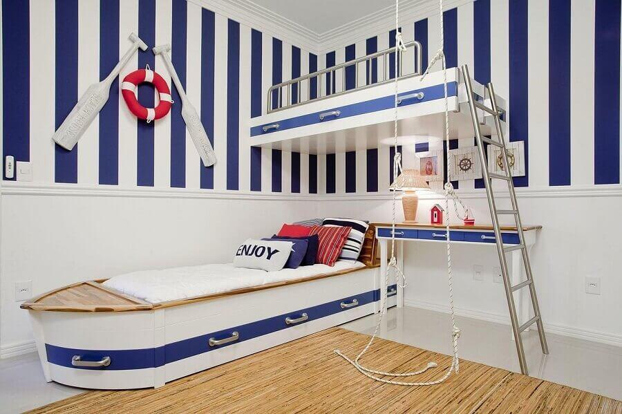 decoração estilo marinheiro para quarto azul infantil Foto Priscila Koch