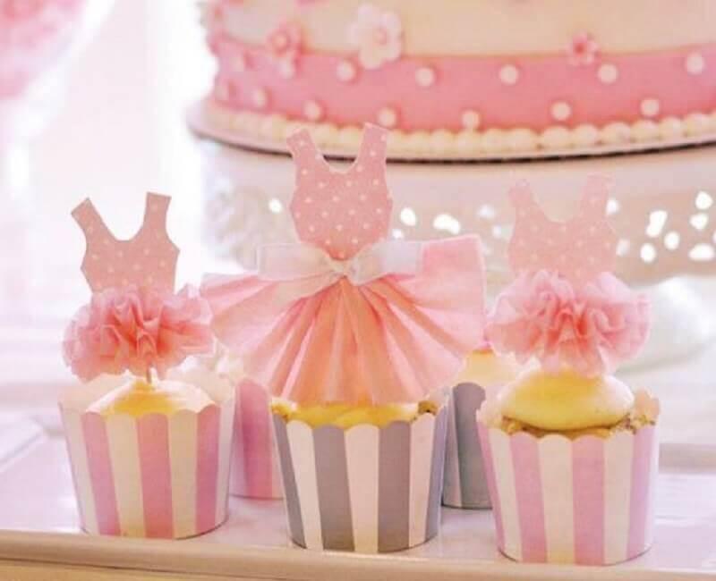 docinhos decorados com vestidinhos para festa bailarina Foto Espaço Infantil