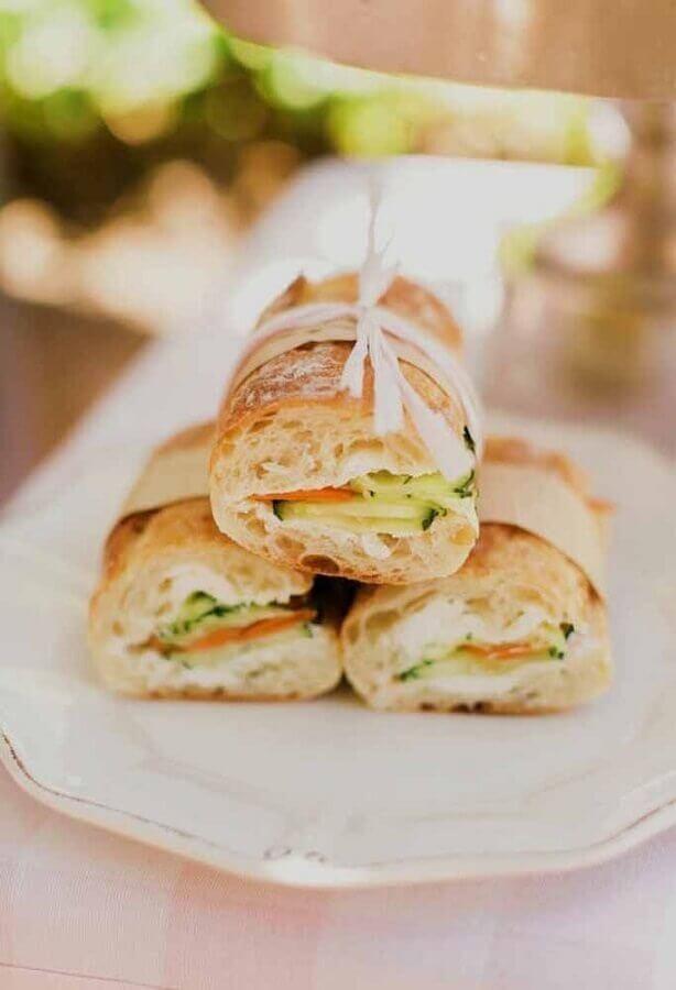 festa de aniversário com sanduíches Foto Pinterest