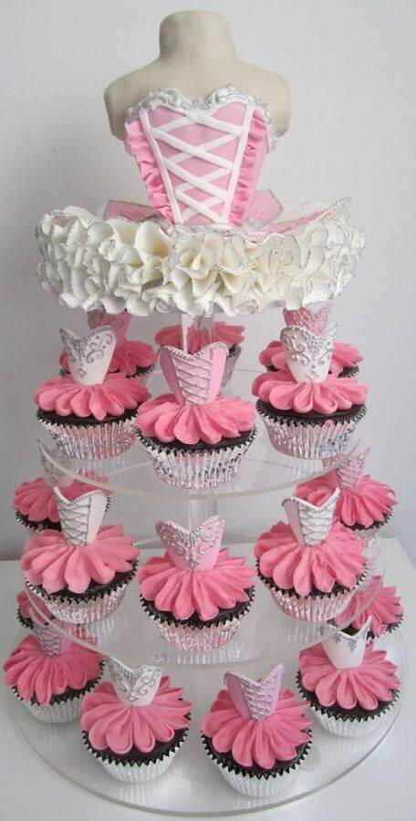 ideias de doces para festa bailarina Foto Pinterest
