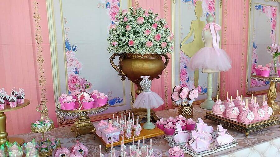 ideias para decoração de festa bailarina Foto Gislandro X Alanne