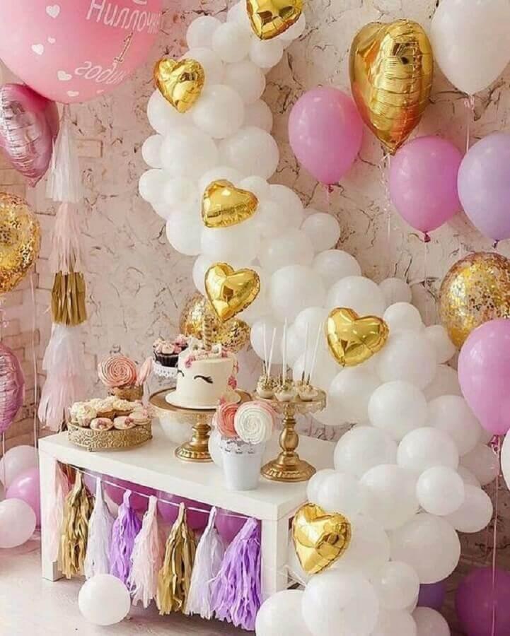 ideias para festa de aniversário de unicórnio com vários balões Foto Air Freshener