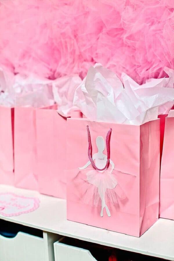 lembrancinhas para festa bailarina com sacolinhas personalizadas Foto Dicas de Lembrancinhas