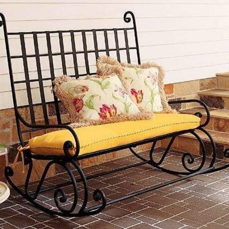 modelo de cadeira de balanço dupla Foto Zozu