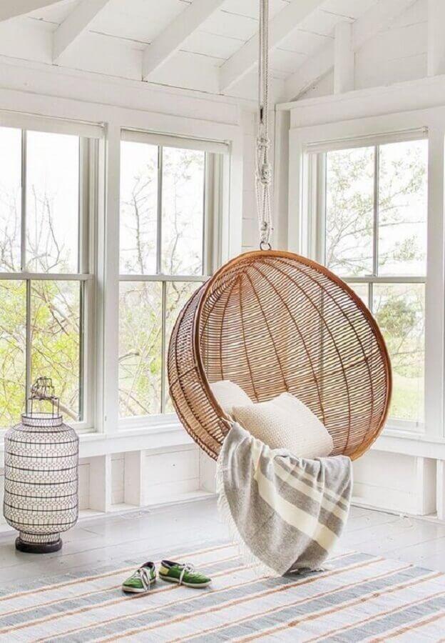 modelo de cadeira de balanço suspensa redonda Foto Pinterest