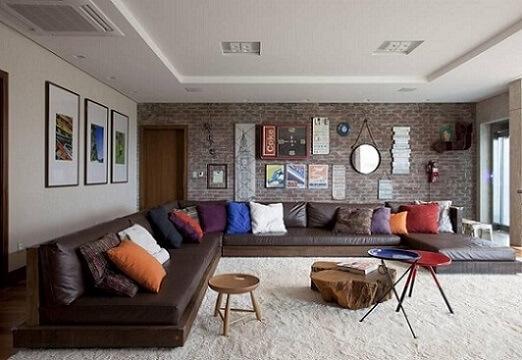 Combinação de cores diversas com o marrom Projeto de Juliana Pippi