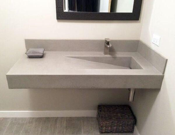 Pia de porcelanato para banheiro é resistente