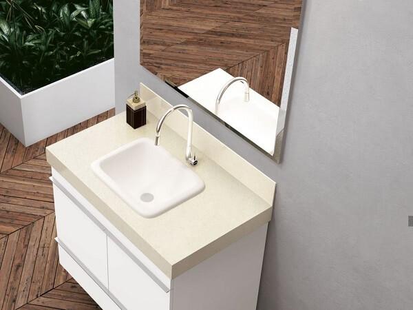 Pia de porcelanato para banheiro ou lavabo