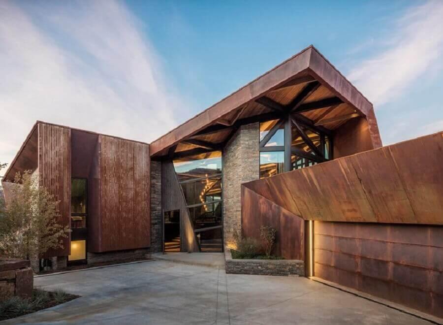 aço corten para fachada moderna  Foto Designboom