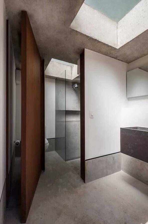 aço corten para porta de banheiro  Foto Pinterest
