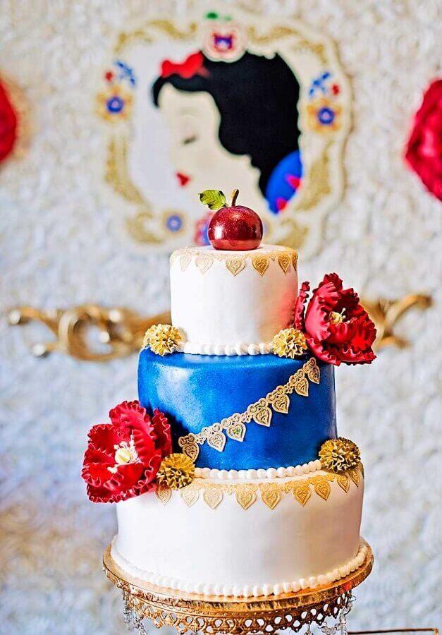 bolo personalizado para festa infantil branca de neve Foto Bolo Decorado