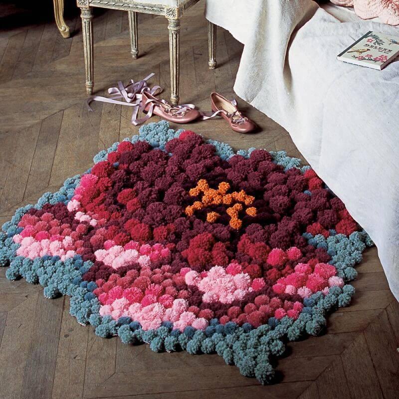 Como fazer tapete com desenho de flor
