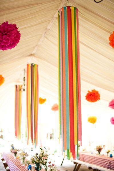 decoração de festa junina fitas