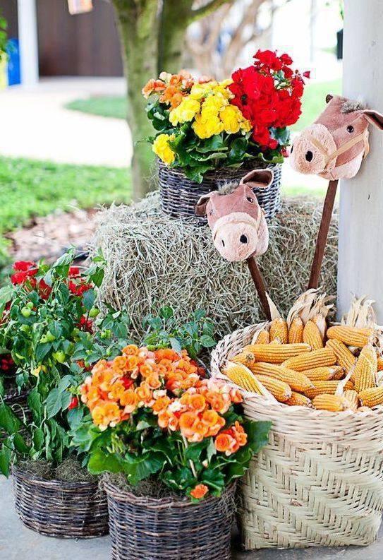decoração de festa junina flores do campo
