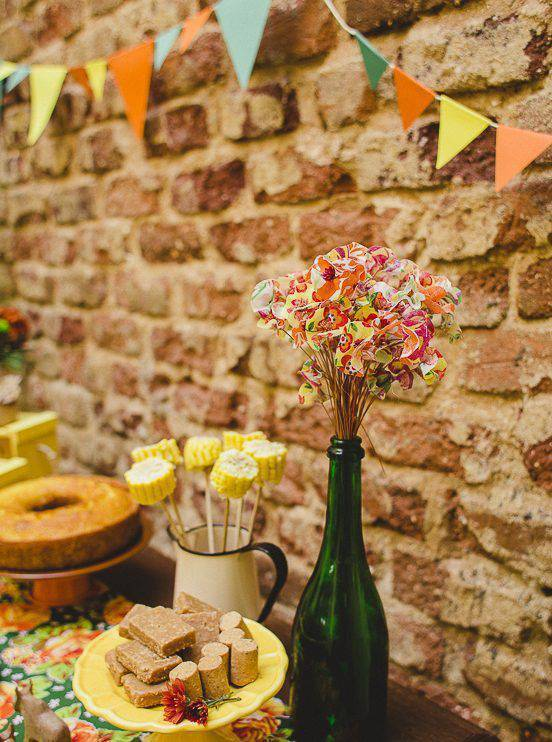 decoração de festa junina mesa decorada