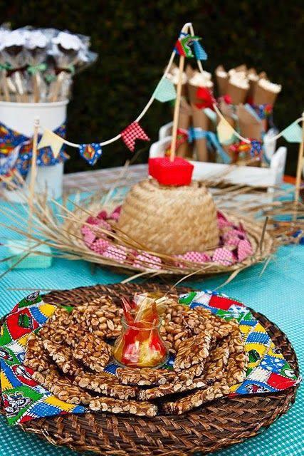 decoração de festa junina vime