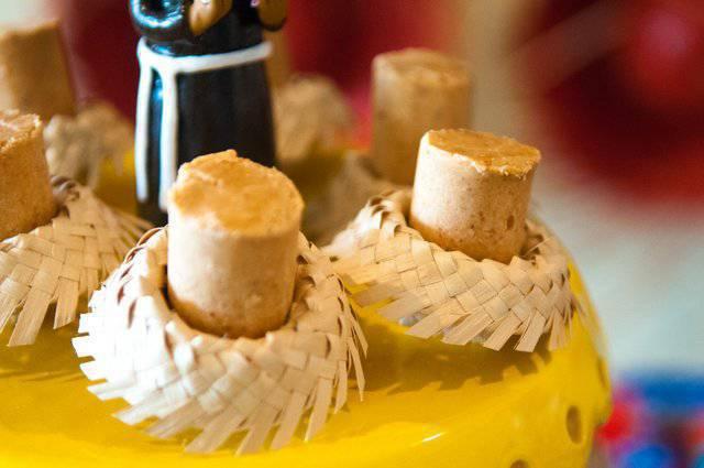 decoração festa junina palha