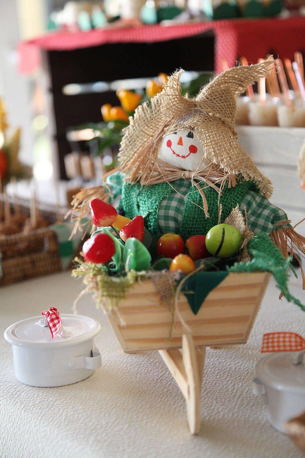 decoração de festa junina- espantalho