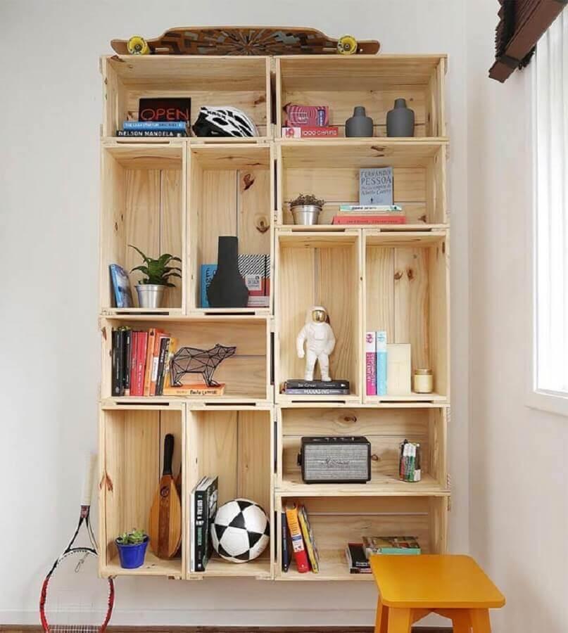 dicas de decoração barata com caixotes de madeira Foto Hggirlonfire