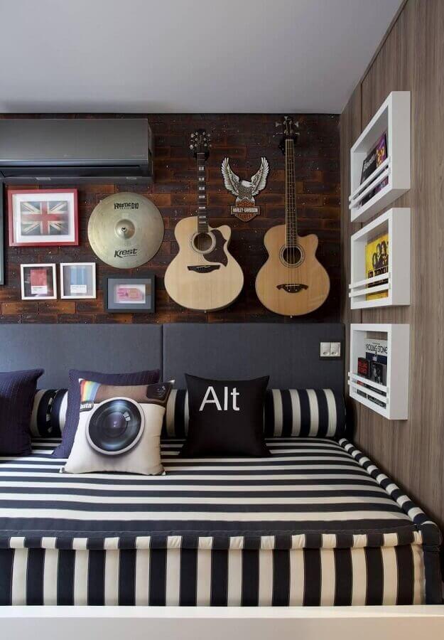 dicas de decoração com instrumentos musicais Foto Juliana Pippi