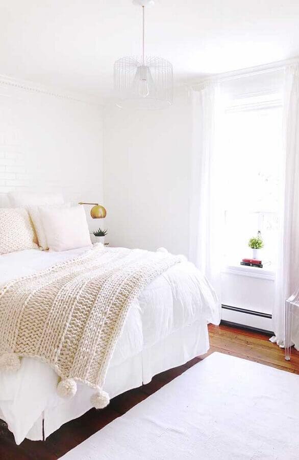 dicas de decoração de quarto todo branco Foto iCastle